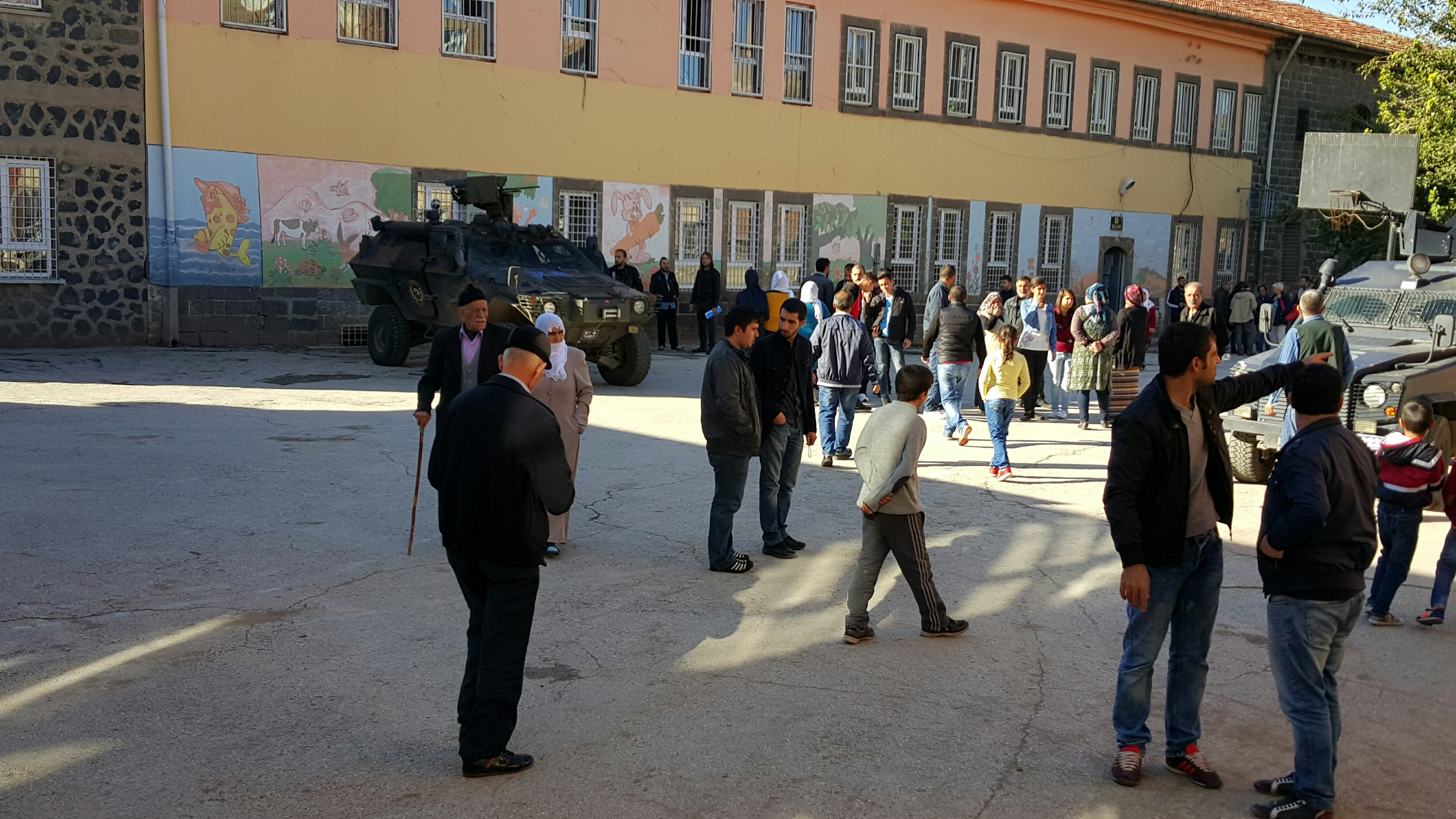 Heavy police and army presence characterised polling day in many districts